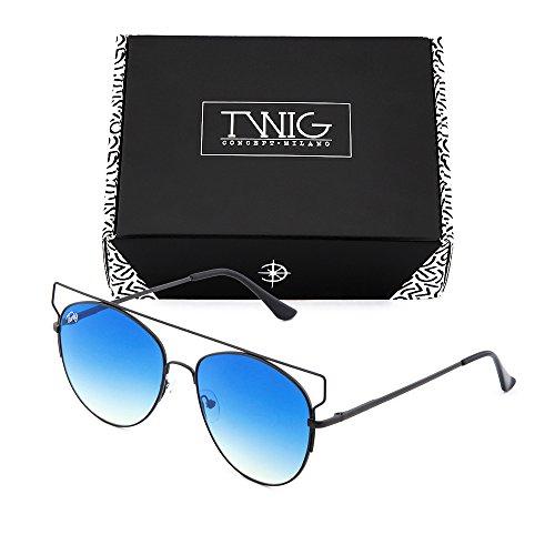 sol Negro TWIG espejo degradadas Gafas Azul Degradado mujer de TZARA S5pwx0q