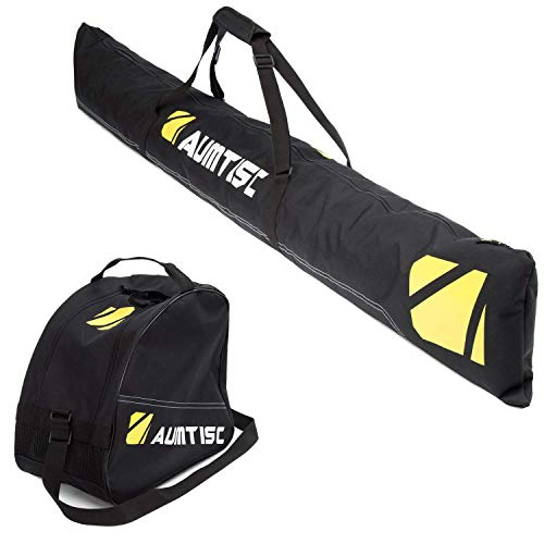 AUMTISC Ski Bag and Boot Bag Combo for 1 Pair