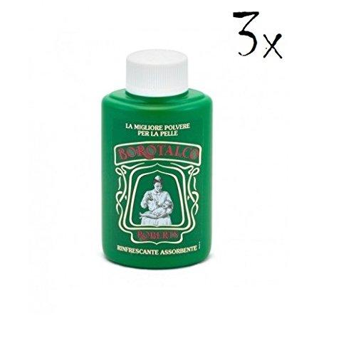 3X Borotalco Roberts corpo polvere 100G Talco in polvere Body Powder Talc Talco in scatola