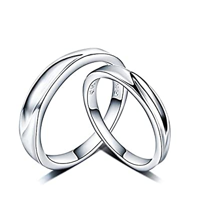 5e08eacfd Buy Dc Jewels Sterling Silver Couple Ring For Men & Women Online at Low  Prices in India | Amazon Jewellery Store - Amazon.in