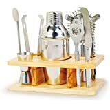 Home Bar Set Cocktail Tool Kit Mini Accessories Mixer Shaker Portable Holder Wet Set-Up Contemporary
