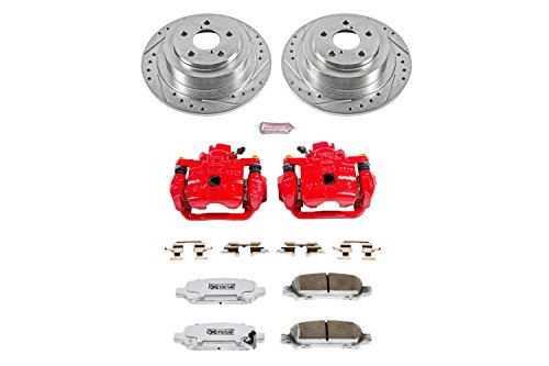 Power Stop KC3124-26 Z26 Street Warrior Brake Kit with Powder Coated Caliper by Power Stop (Image #1)