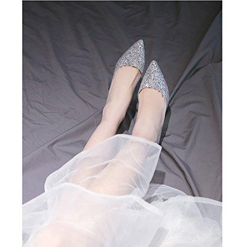 High Fein Sandalen Brautjungfer Spitzen Kristall Bridal Heels Farbe mit UK6 Größe EU39 Damenschuhe CN39 Sommer Hochzeit Prom Frühling YLLHX Zusammen 5cm Fairy 7 Herbst qPwYa0xz