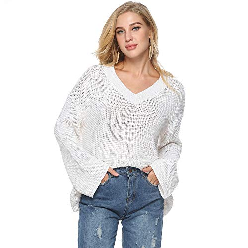 Longues la Femmes Taille Tops B Shirt White ray Le pour Chemisier Dessus Mode Manches sur Tricot Femme Ample WYXlink Plus T 75Yzwz
