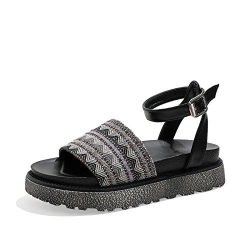 da donna antiscivolo piatte da YMFIE Boemia open EU 40 EU comode Sandali toe estiva spiaggia scarpe 37 wqI1fzI