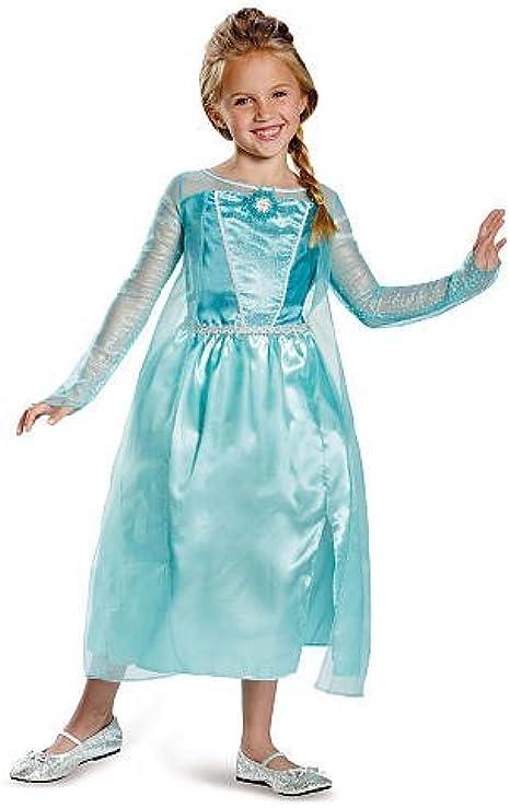 Elsa Halloween Costumes For Kids.Amazon Com Disney Frozen Elsa Halloween Costume Size 7 8 Clothing