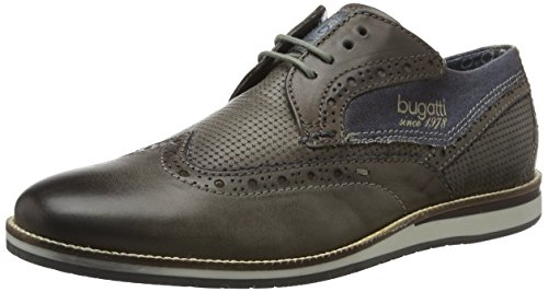 Bugatti Unisexe Chaussures À Lacets Taupe / Darkblue Taupe / Darkblue