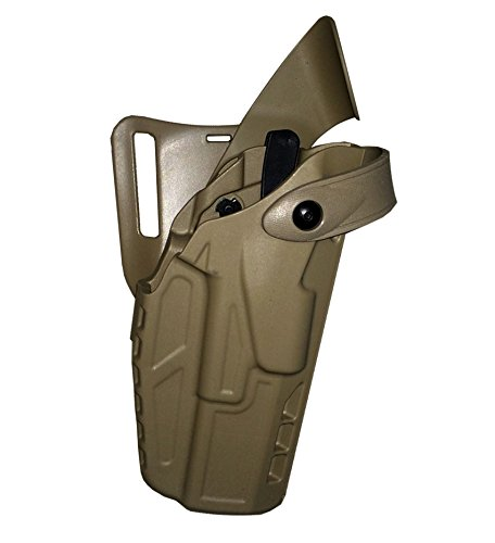 Safariland 7360 7TS ALS/SLS Mid-Ride Level-III Duty Beretta 92 Holster, STX Flat Dark Earth, Right
