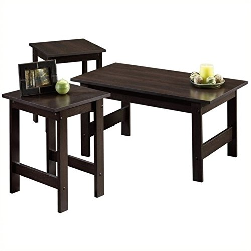 Pemberly Row 3 Piece Coffee Table Set in Cinnamon Cherry by Pemberly Row