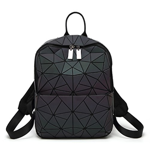 HotOne Geometric Backpack Holographic Reflective Backpacks Fashion Backpack (No.2 Medium)