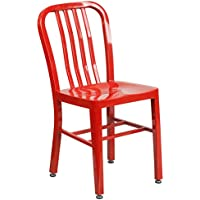 Flash Furniture Red Metal Indoor-Outdoor Chair