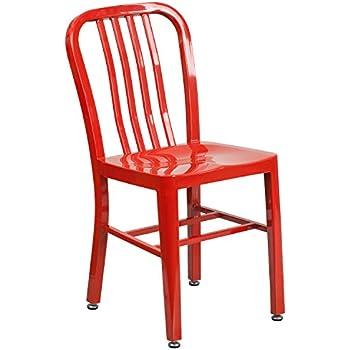 Delicieux Flash Furniture Red Metal Indoor Outdoor Chair