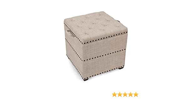 Admirable Asense Square Fabric Ottoman With Tray Storage Square Cube Ottoman Footstool Cubic Beige Alphanode Cool Chair Designs And Ideas Alphanodeonline