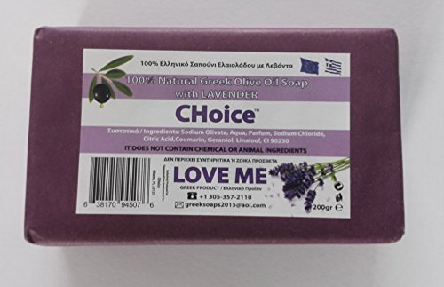 Love Me Natural Soap w/ Lavender & Olive Oil 200gr (pack of 3)