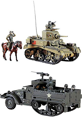2 Hasegawa WW2 Models – M3 Stuart Tank and M3A1 Half for sale  Delivered anywhere in USA
