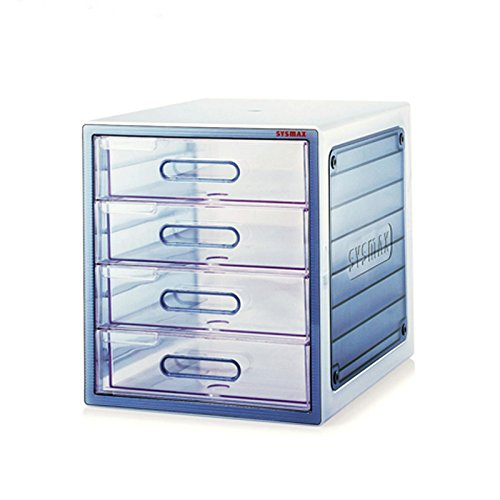 4 Drawers Translucence File Cabinet Lux Multi Cabinet Office Home 10004 by Sys