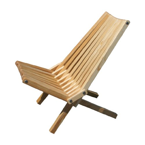 GloDea X36P1TOS1 Lounge Chair, Teak Oil, Set of 1
