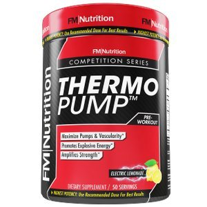 ThermoPump - ELECTRIC LEMONADE - High Performance Pre-Workout Supplement with Creatine, Betaine Anhydrous, Beta Alanine and Taurine, 50 Servings, 2lb container by FM Nutrition