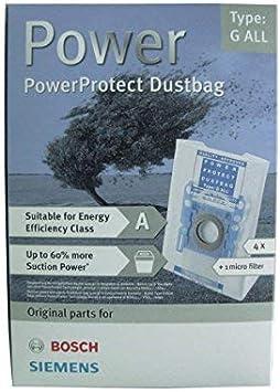 Bolsa de filtro para aspiradora tipo GXXL/GXL Bosch Siemens 00467342 / 00576863: Amazon.es: Amazon.es