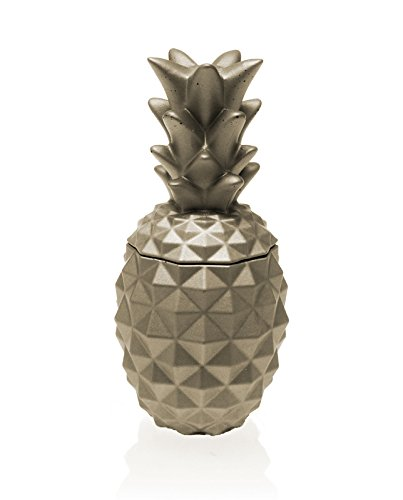 (Candellana Candles Candlefort Concrete Candle- Pineapple Golden Brown, Scent:)