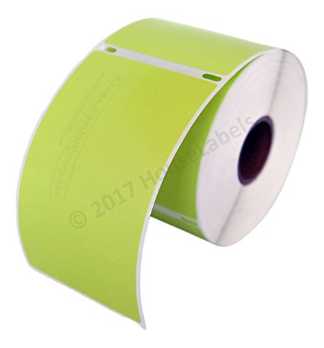 1 Roll; 300 Labels per Roll of DYMO-Compatible 30256 GREEN Large Shipping Labels (2-5/16 x 4) -- BPA Free!