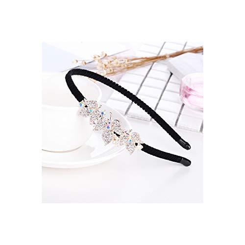 Hot Female Crystal Rhinestones Hairband Flower Headband For Women Shiny Girls Hair ()