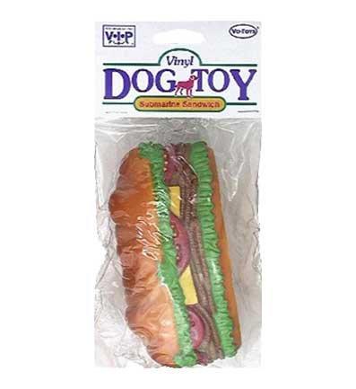 Votoy Vinyl Sub Sandwich Dog Toy 5.5 ()