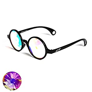 Portal Lens Kaleidoscope Glasses - Black