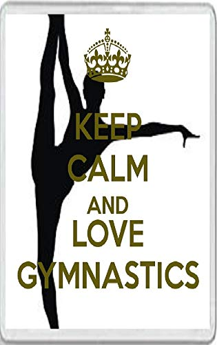 Keep Calm and Love Gymnastics Jumbo Fridge Magnet