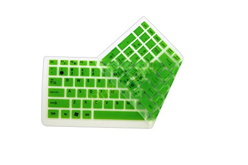 DHZ® Unique Ultra Thin Durable Colorful Translucent Keyboard Cover Silicone Skin For ASUS N50 N51 N53J N53S N53D N53T N56 N61J N70 N73 N73J N61VG K50 K51 K52J K70 K73T K55D K53T K55 F50 X5X X5DC X5D X53 X53B X53S X501 X61 X66 X54H X55VD X55X X75 A52 A52D A52X A52J A53 A55 A56 A72 M60 F61 F70 U50 B53S P53S (Green)