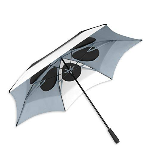 - ShedRain Vortex Vent 62″ Golf Umbrella: Black/White/Grey