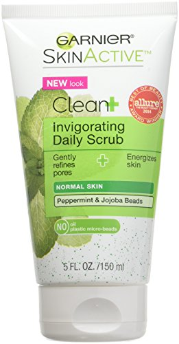 - Garnier Clean + Invigorating Daily Scrub for Normal Skin 5 oz (Pack of 4)