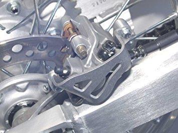 Rear Guard Caliper (89-07 KAWASAKI KX250: Works Connection Rear Brake Caliper Guard (NATURAL))