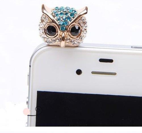Big Mango Cute Crystal Rhinestone Owl Anti Dust Plug Stopper / Ear Cap / Cellphone Charms for Apple iPhone 5 iPhone 4 4s ,iPad Mini iPad 2 ,iPod Touch 5 (Hello Kitty Diamond Pendant)