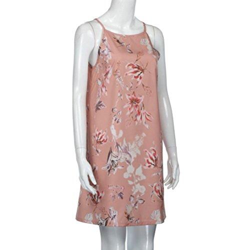 kleid damen Kolylong® Frauen elegante Blumen gedruckt ärmelloses ...
