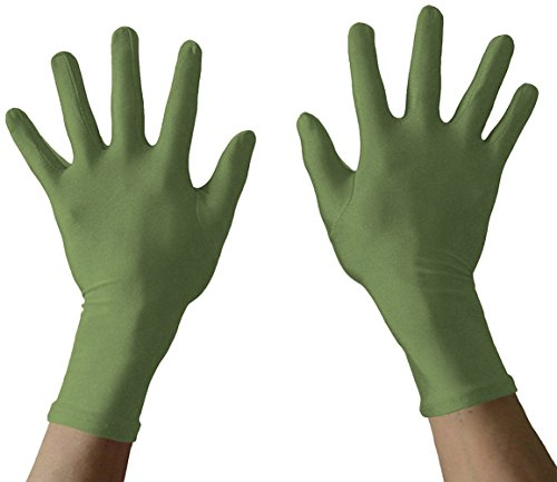 Seeksmile Adult Lycra Spandex Gloves Many Colors Available (Free Size, Olive)]()