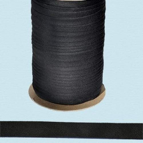 10 Yards // Pack Bias Tape ~ 1//2\ Wide Double-fold Bias Tape ~ Black ~ Poly Cotton