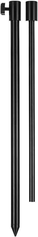 Fishing Bankstick Aluminium Black WITH Rod Rest 30-50 cm Bank Stick