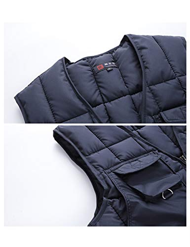 Sleeveless Body Outerwear Dark Country Waistcoat Sweater Lightweight Blue Down Gilet Clothing Vest Breathable Warmer Quilted BESBOMIG Lined Men's 8pXwqpYH