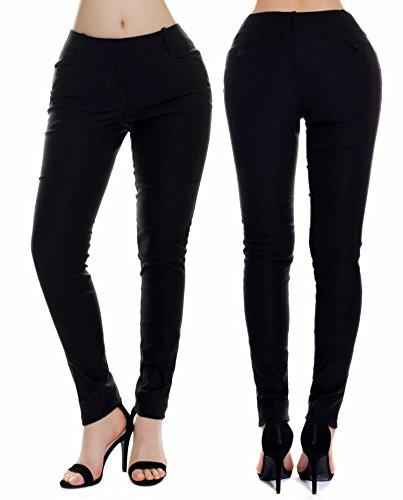 f3296e1a00 Instar Mode Women s Classic Perfect Fit Stretchy Dress Pants Boot-Cut Skinny