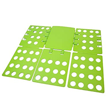 WYZworks Adjustable Adult Magic Fast Folder Clothes T-Shirts Folding Board (Green)