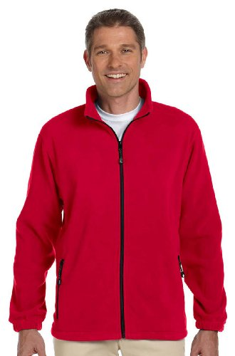 Devon And Jones Classic Jacket (Devon & Jones Classic Wintercept Fleece Men's Full-Zip Jacket. D780 - XXXX-Large - Red)
