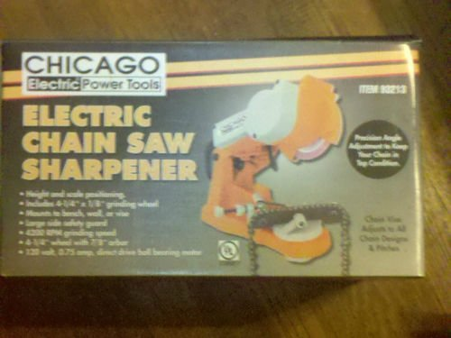 Electric Chain Saw Sharpener Wall, Bench or Vise Mount by Chicago
