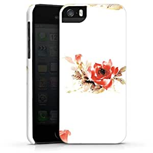 Carcasa Design Funda para Apple iPhone 5 S PremiumCase white - Rose Watercolour