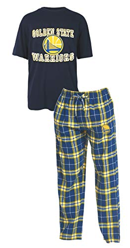 Concepts Sport Golden State Warriors NBA Great Duo Men's T-Shirt & Flannel Pajama Sleep Set