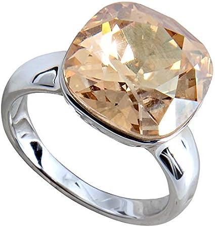 H2Z Größe 7 Gold Kristall Ring aus Swarovski Elements
