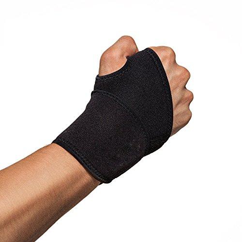 poomoon Wrist Brace, Adjustable Wrist Support, One Size Adjustable Fitted, Highest Copper Content(Black)
