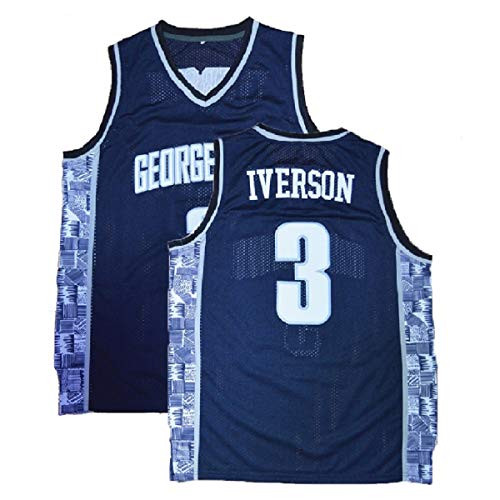 bc75fdd56a40 Mens Iverson Jersey The University 3 Basketball Jersey Allen Adult Sports  Jerseys(S-XXL) (M