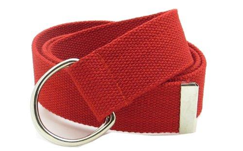 - Canvas Web Belt Double D-Ring Buckle 1.5