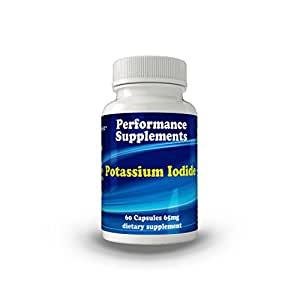 Potassium Iodide 60 Capsules - 65 Mg. Each Purest Ingredients Available